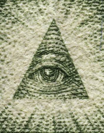 Dollar Bill Eye Triangle Pyramid artworks under the microscope microscopic photography art photo microscopy artwork
