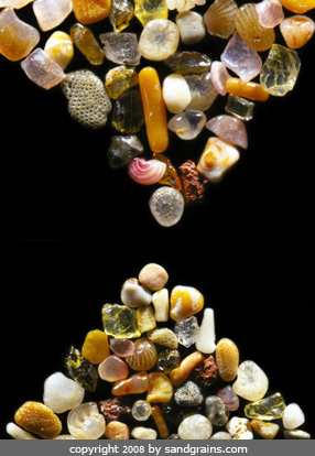 Sand grains under the microscope microscopic sand photography art photo microscopy artwork